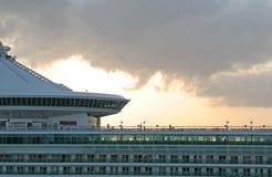 Nave in nubi Fotografia Stock Libera da Diritti