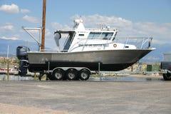 Nave oceanografica di Gran Lago Salato Fotografia Stock Libera da Diritti