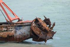 Nave oxidada vieja del propulsor abandonada Imagen de archivo libre de regalías