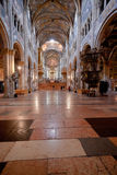Nave of Parma Cathedral, Italy Stock Image