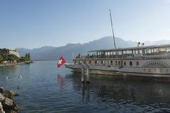 Nave passeggeri sul lago Lemano Immagine Stock
