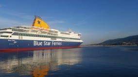 Nave Patmos della stella blu Fotografia Stock