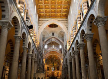 Nave of Pisa cathedral Royalty Free Stock Photo