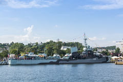 Nave polacca Gdynia del museo del distruttore ORP Blyskawica Fotografia Stock
