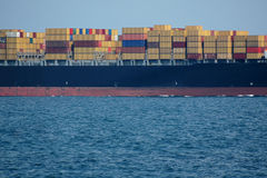 Nave porta-container Fotografia Stock Libera da Diritti