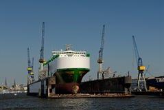 Nave porta-container Immagini Stock Libere da Diritti