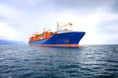Nave porta-container commerciale Immagine Stock Libera da Diritti