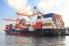 Nave porta-container del carico Immagini Stock Libere da Diritti