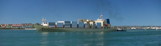 Nave porta-container del carico Fotografia Stock