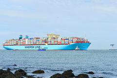 Nave porta-container del moller di Maersk Mc-Kinney Immagini Stock Libere da Diritti