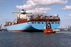 Nave porta-container di Edith Maersk Immagini Stock Libere da Diritti