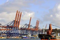 Nave porta-container nel porto di Rotterdam Immagine Stock Libera da Diritti