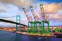 Nave porta-container - porto di Los Angeles Fotografia Stock