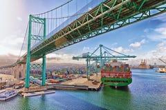 Nave porta-container - porto di Los Angeles Immagine Stock Libera da Diritti