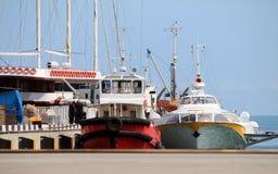 Nave in porto Immagine Stock