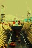 Nave in porto Fotografie Stock