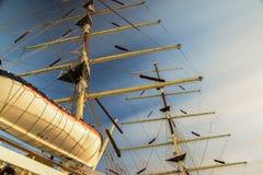 Nave in porto Fotografie Stock Libere da Diritti
