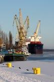 Nave in porto Immagini Stock Libere da Diritti