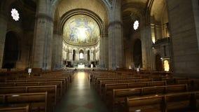 Nave sagrado de Montmartre do coração video estoque