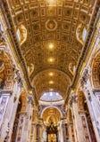 Nave Saint Peter`s Basilica Bernini Baldacchino Holy Spirit Vati. Nave Saint Peter`s Basilica Bernini Baldacchino Holy Spirit Dove Vatican Rome Italy Royalty Free Stock Photo