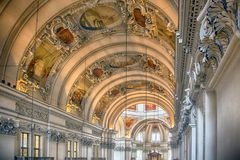 Nave of the Salzburg Cathedral Stock Photography