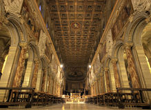 Nave of San Marco Basilica, Rome Royalty Free Stock Images