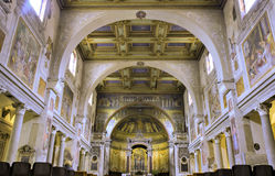 Nave of San Pietro in Vincoli Royalty Free Stock Images