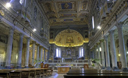 Nave of San Pietro in Vincoli, Rome Royalty Free Stock Photos
