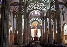 Nave, Santa Ana katedra Zdjęcia Royalty Free