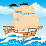 Nave seaborne Imagem de Stock