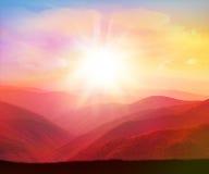 nave Sonnenaufgang im Berg lizenzfreie stockfotos