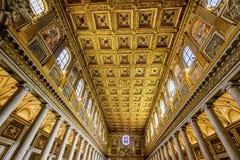 Nave a souillé la basilique large en verre Santa Maria Maggiore Rome Italy images libres de droits