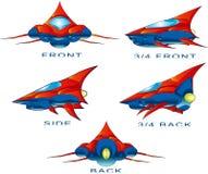 Nave spaziale illustrazione vettoriale