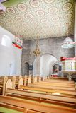 Nave of the St. Peders Kirke on Bornholm Royalty Free Stock Photos