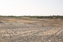 nave steppa Sabbia paesaggio di area di conservazione fotografie stock libere da diritti