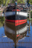 Nave storica in un canale in Papenburg Fotografia Stock Libera da Diritti