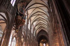 Nave of Strasbourg cathedral Stock Photography