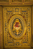 Nave sufit w bazylice St John Lateran w Rzym Włochy Zdjęcia Royalty Free