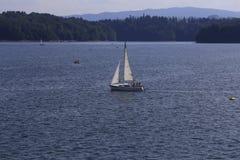 Nave sul lago Fotografia Stock Libera da Diritti