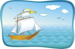 Nave sul mare Fotografia Stock