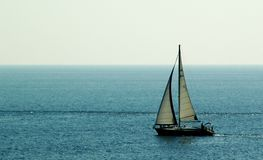Nave sul mare fotografia stock libera da diritti
