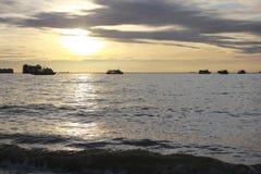 Nave sul mare Fotografie Stock