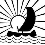 Nave sulle onde illustrazione di stock