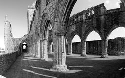 Nave of Sweetheart Abbey, New Abbey, Scotland Royalty Free Stock Image