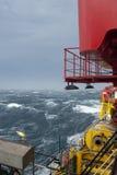 Nave in tempesta Fotografia Stock Libera da Diritti
