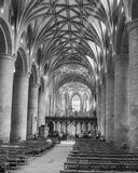 Nave of Tewkesbury Abbey A Stock Photo