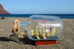 Nave Toy Model de la vela Foto de archivo libre de regalías