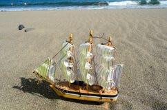 Nave Toy Model de la vela Fotos de archivo libres de regalías