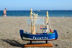 Nave Toy Model della vela Immagini Stock
