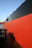 Nave in un bacino del cantiere navale Fotografie Stock